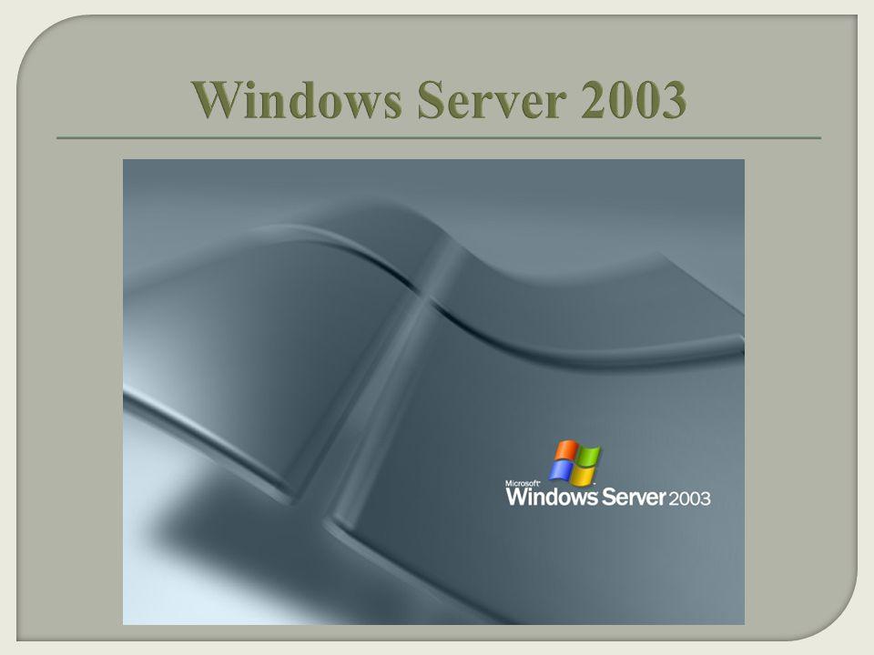  Windows Server 2003, Nisan 2003 te piyasaya çıkmıştır.