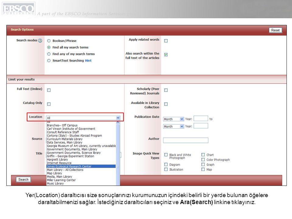 Oturumunuz süresince istediğiniz zaman Yardım(Help) linkine tıklayarak online Yardım sisteminin tamamını görebilirsiniz.