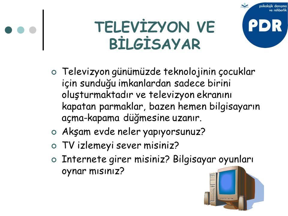Televizyon günümüzde teknolojinin çocuklar için sunduğu imkanlardan sadece birini oluşturmaktadır ve televizyon ekranını kapatan parmaklar, bazen heme