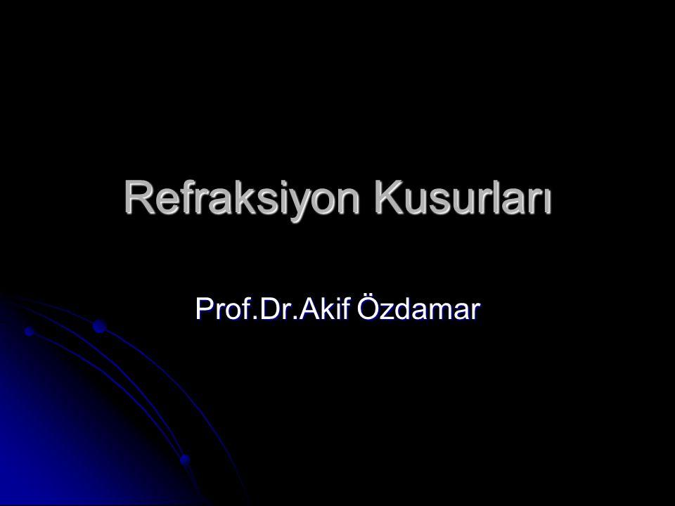 Refraksiyon Kusurları Prof.Dr.Akif Özdamar