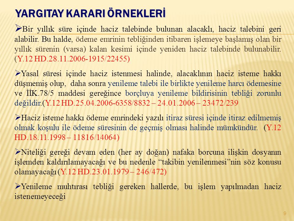 İNTİFA HAKKI VE HİSSE HACZİ 20 (m.83).