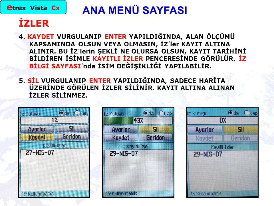 ANA MENÜ SAYFASI İZLER 4.