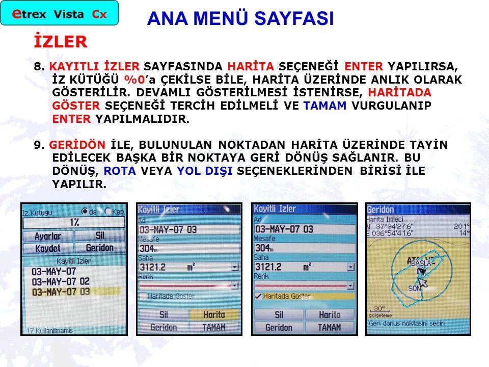 ANA MENÜ SAYFASI İZLER 8.