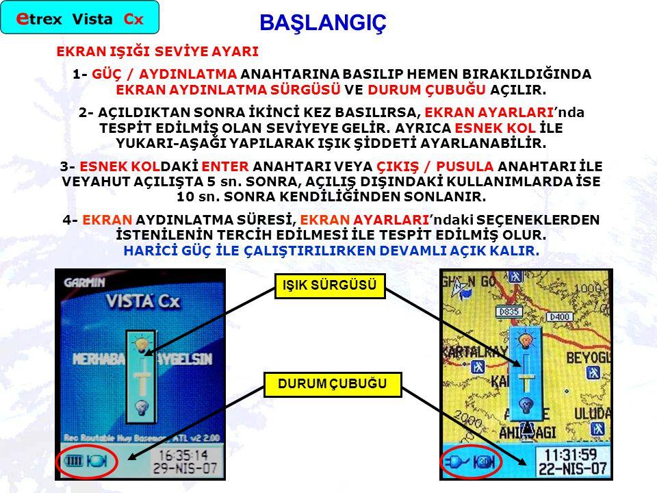 ANA MENÜ SAYFASI AYARLAR - KALİBRASYON ( İlgili sayfada işlenmişti )