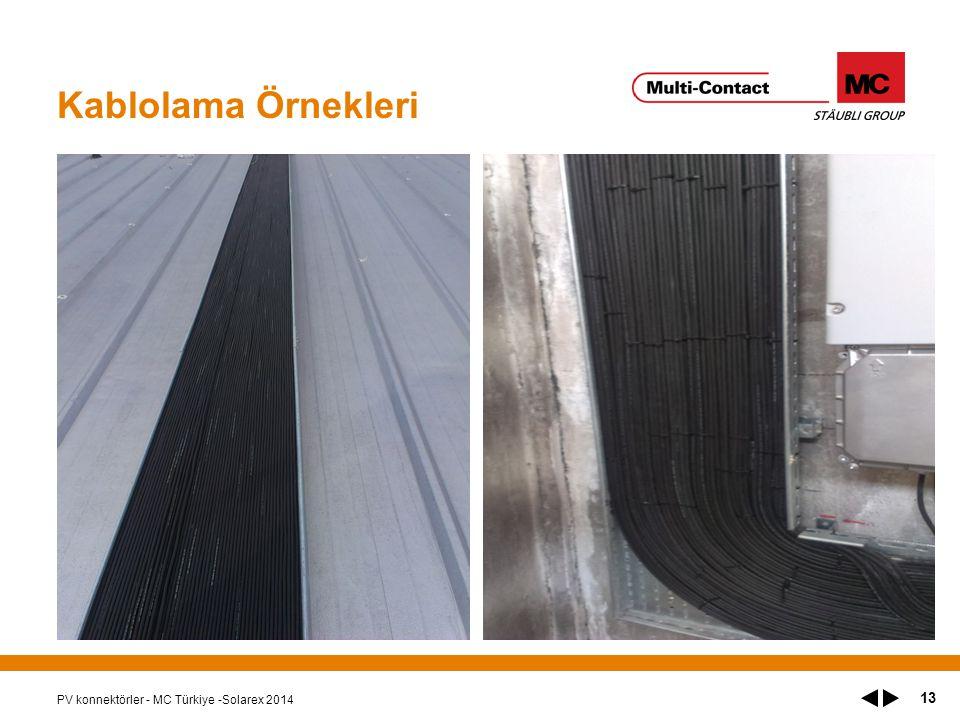 Kablolama Örnekleri PV konnektörler - MC Türkiye -Solarex 2014 13