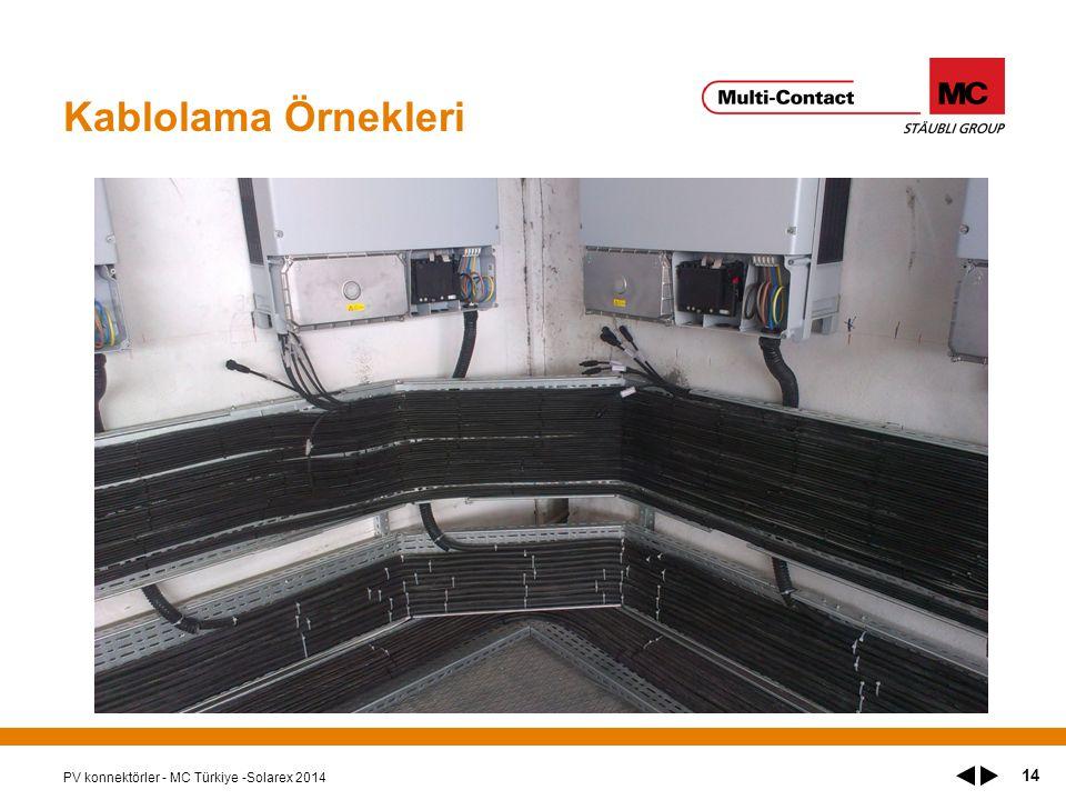 Kablolama Örnekleri PV konnektörler - MC Türkiye -Solarex 2014 14
