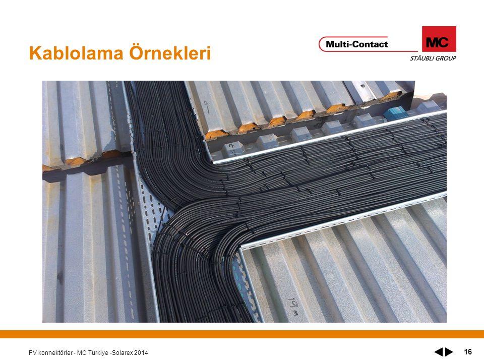 Kablolama Örnekleri PV konnektörler - MC Türkiye -Solarex 2014 16