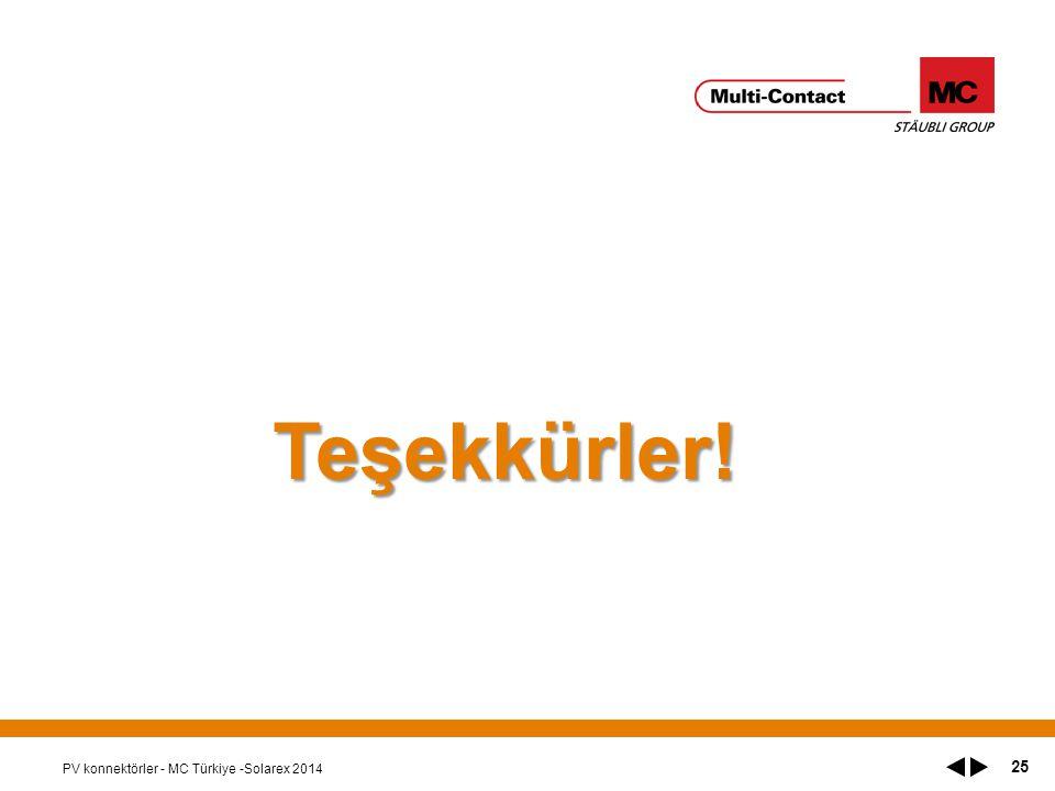 PV konnektörler - MC Türkiye -Solarex 2014 25 Teşekkürler!