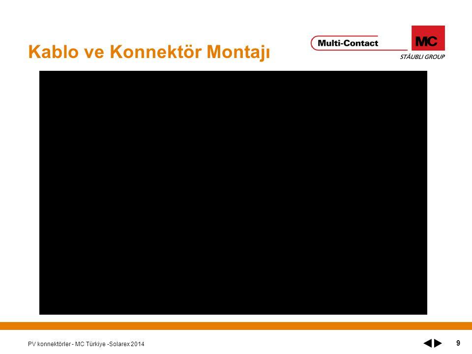 Kablo ve Konnektör Montajı PV konnektörler - MC Türkiye -Solarex 2014 9