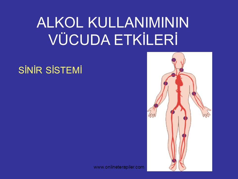 www.onlineterapiler.com ALKOL KULLANIMININ VÜCUDA ETKİLERİ SİNİR SİSTEMİ