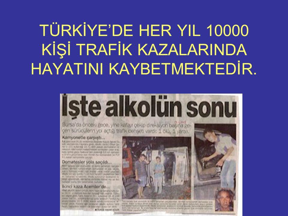 www.onlineterapiler.com TÜRKİYE'DE HER YIL 10000 KİŞİ TRAFİK KAZALARINDA HAYATINI KAYBETMEKTEDİR.