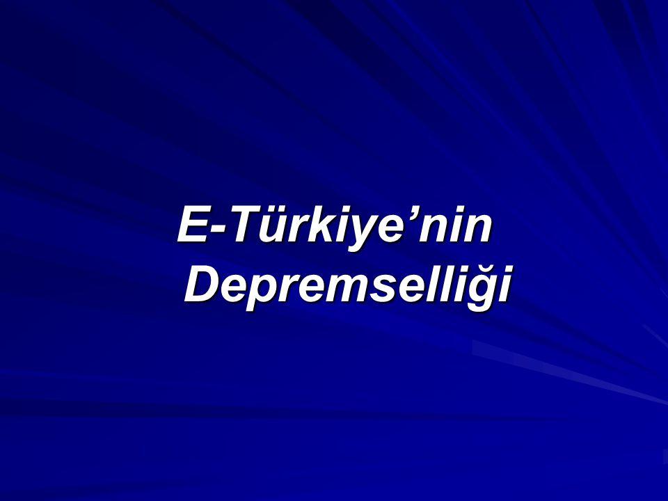 E-Türkiye'nin Depremselliği