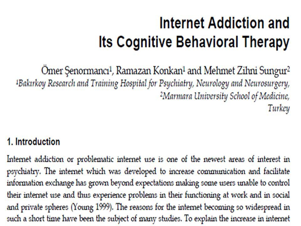 İNTERNET BAĞIMLILIĞININ ALT TİPLERİ (Davis, 2001) ÖZGÜLYAYGIN • İnternetin birçok fonksiyonu içerisinde spesifik bir fonksiyonuna bağımlıdırlar • İnternetin genel, çok yönlü kullanımını içerir • Online seks (en sık), online oyunlar, online kumar, online borsa, online alışverişi içerir • İnternetin sosyal yönüyle ilişkilidir • Önceden oluşan bir psikopatolojinin sonucu olduğu varsayılır • Özellikle aileden ya da arkadaşlardan gelen sosyal destek eksikliği ya da sosyal izolasyon sonucu gerçekleşir