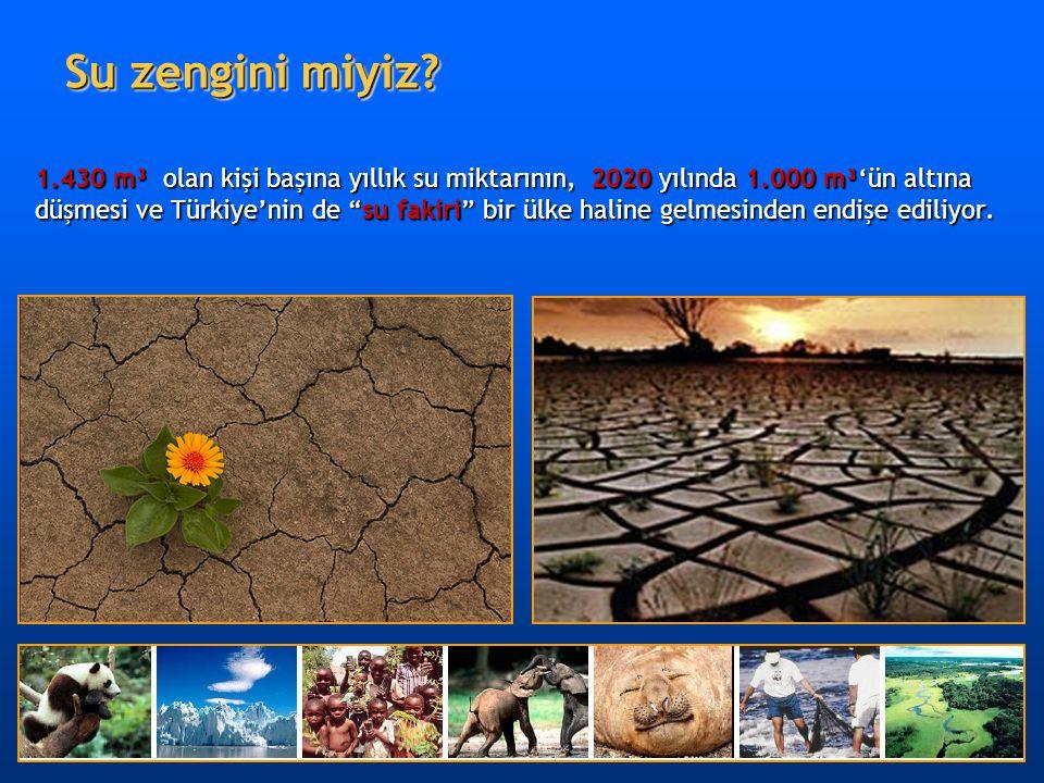 """1.430 m³ olan kişi başına yıllık su miktarının, 2020 yılında 1.000 m³'ün altına düşmesi ve Türkiye'nin de """"su fakiri"""" bir ülke haline gelmesinden endi"""