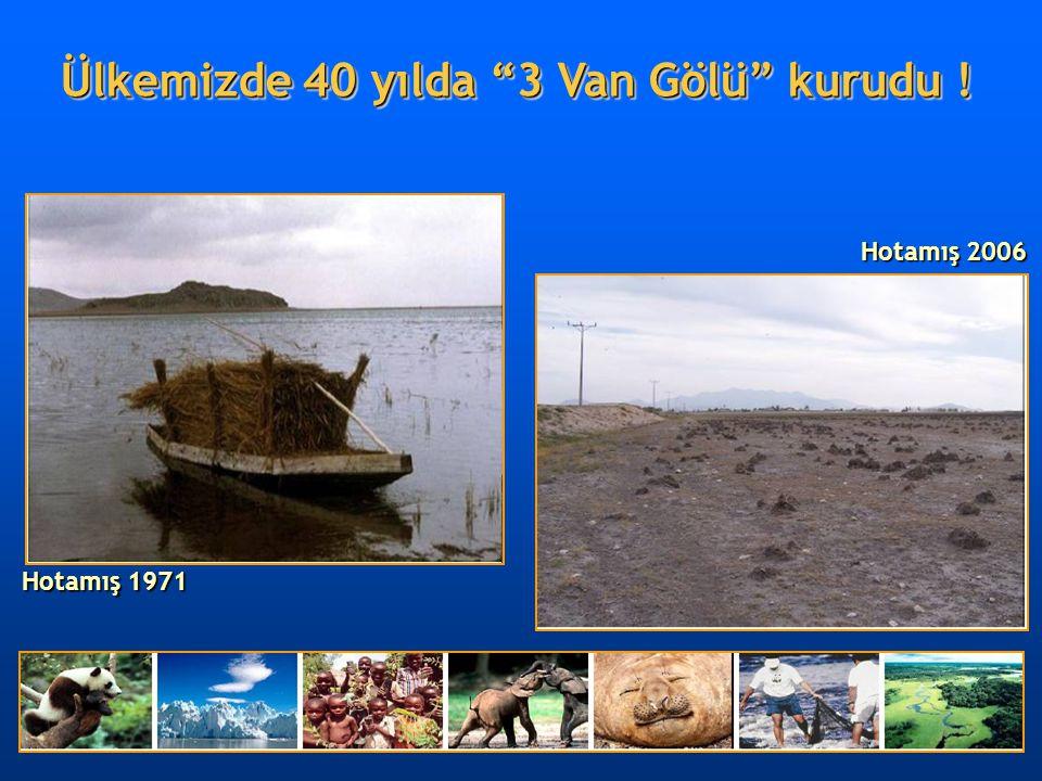 """Hotamış 1971 Hotamış 2006 Ülkemizde 40 yılda """"3 Van Gölü"""" kurudu !"""