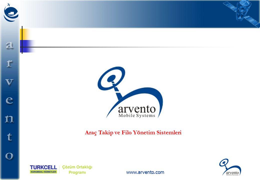 www.arvento.com Araç Takip ve Filo Yönetim Sistemleri