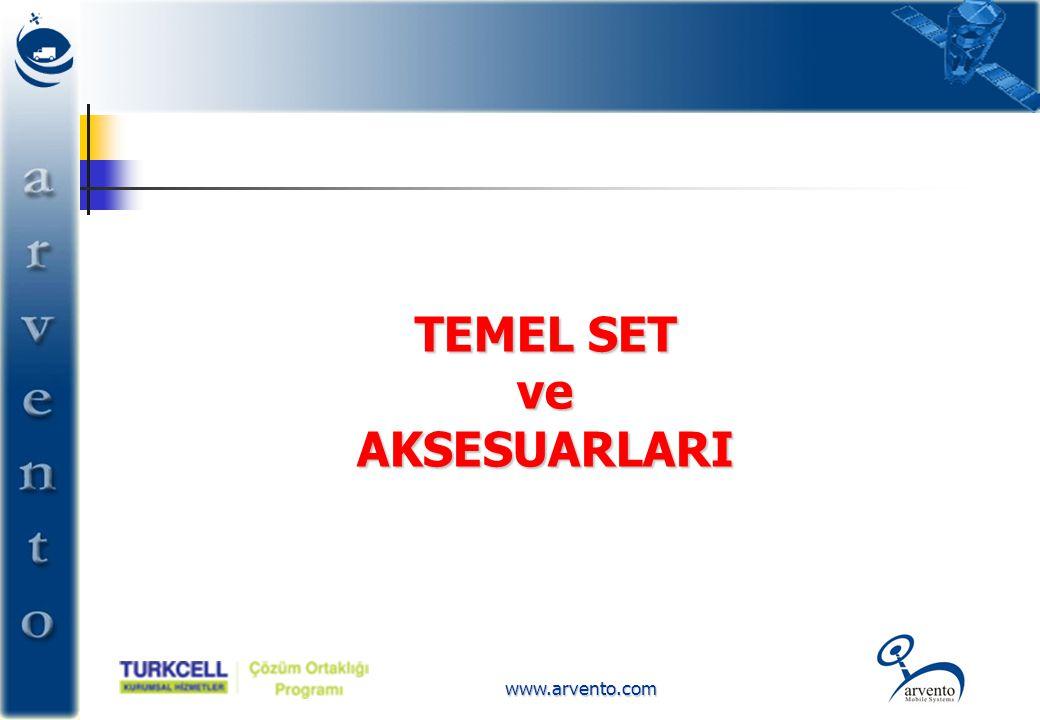 www.arvento.com TEMEL SET ve AKSESUARLARI