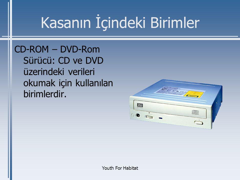 Youth For Habitat Kasanın İçindeki Birimler CD-ROM – DVD-Rom Sürücü: CD ve DVD üzerindeki verileri okumak için kullanılan birimlerdir.