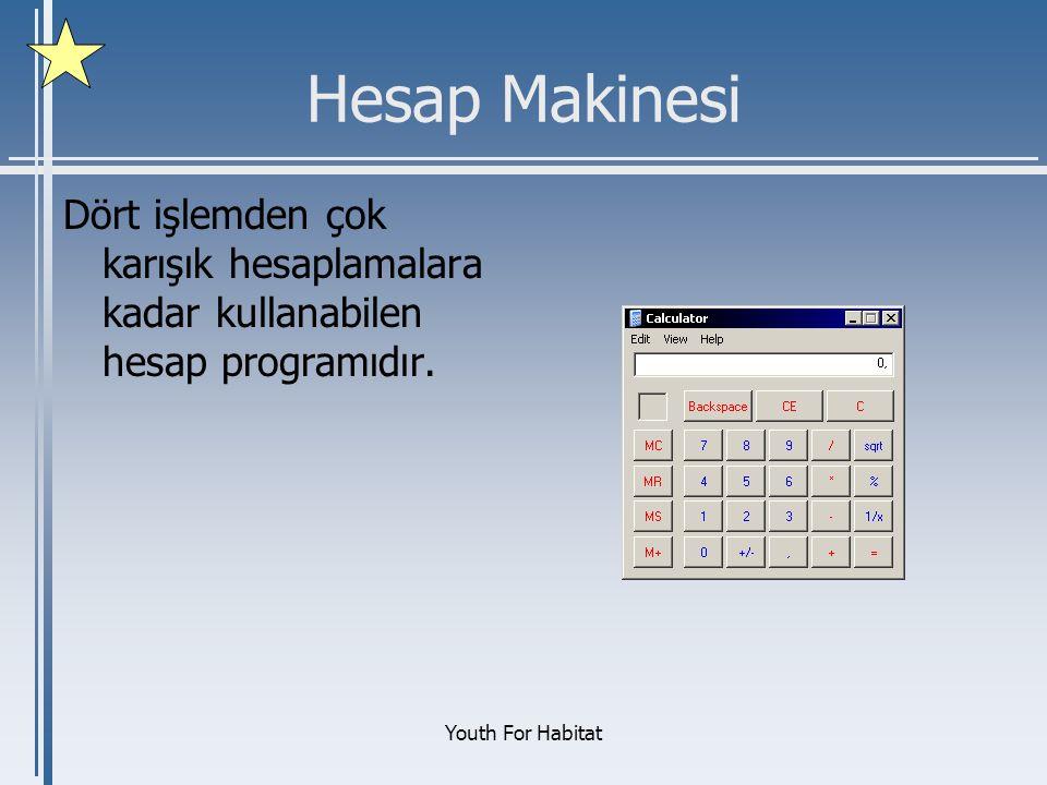 Youth For Habitat Hesap Makinesi Dört işlemden çok karışık hesaplamalara kadar kullanabilen hesap programıdır.