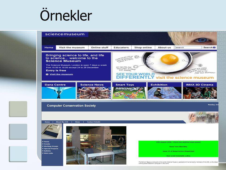 Ünak'08 9 - 11 Ekim, Yaşar Üniversitesi Örnekler