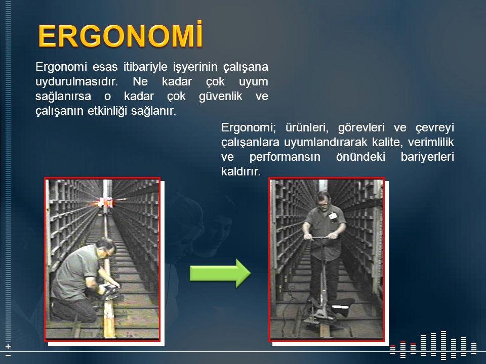 Ergonomi esas itibariyle işyerinin çalışana uydurulmasıdır. Ne kadar çok uyum sağlanırsa o kadar çok güvenlik ve çalışanın etkinliği sağlanır. Ergonom