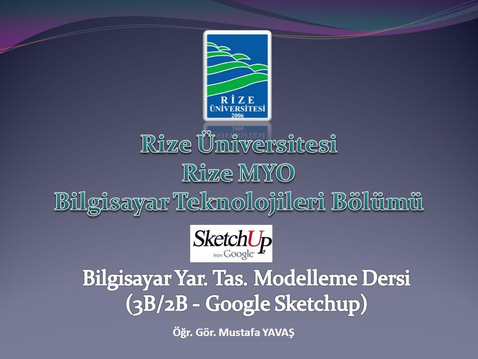 Nesnelere animasyon ekleme Öğr.Gör.Mustafa YAVAŞ-Rize MYO42 Animasyon sahnesi oluşturmak için; 2.