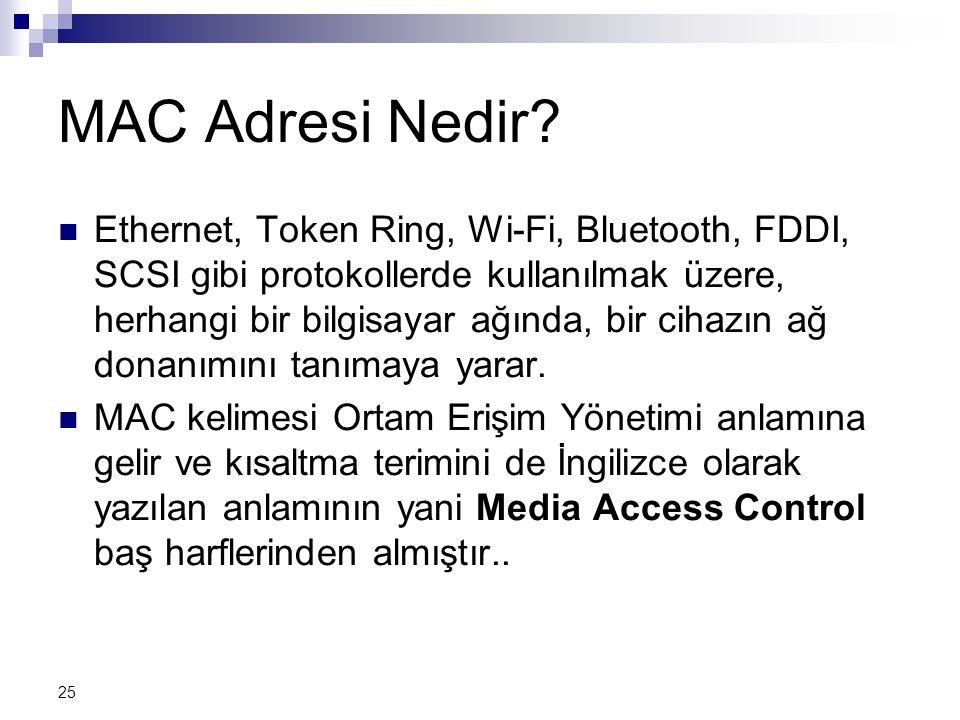 25 MAC Adresi Nedir.