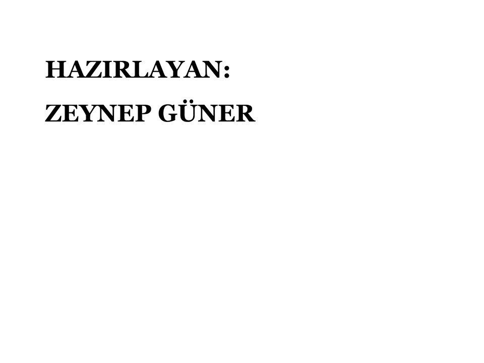 HAZIRLAYAN: ZEYNEP GÜNER