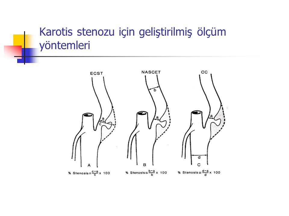 Karotis stenozu için geliştirilmiş ölçüm yöntemleri