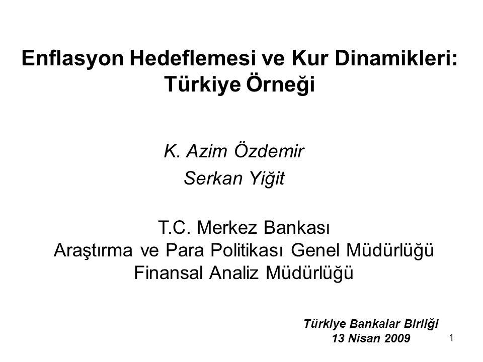 1 Enflasyon Hedeflemesi ve Kur Dinamikleri: Türkiye Örneği K.