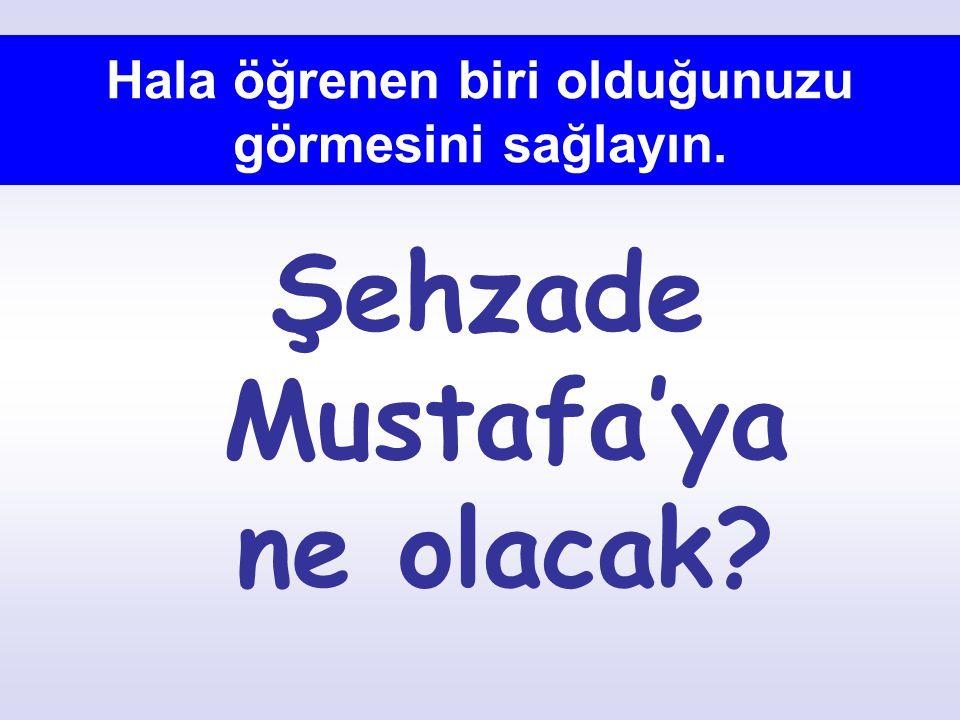 Hala öğrenen biri olduğunuzu görmesini sağlayın. Şehzade Mustafa'ya ne olacak?