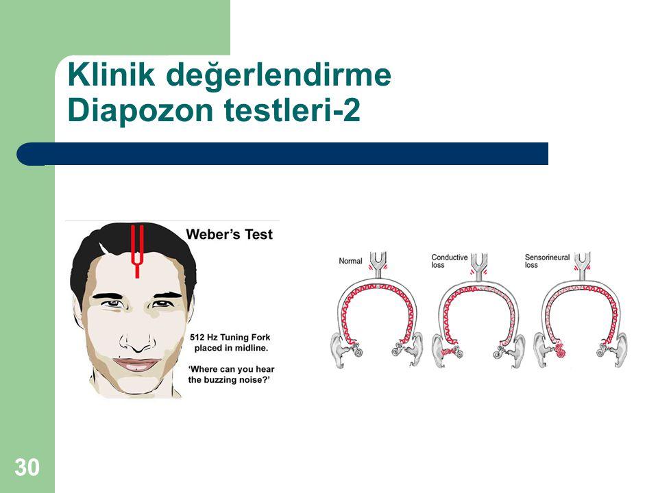Klinik değerlendirme Diapozon testleri-2 30