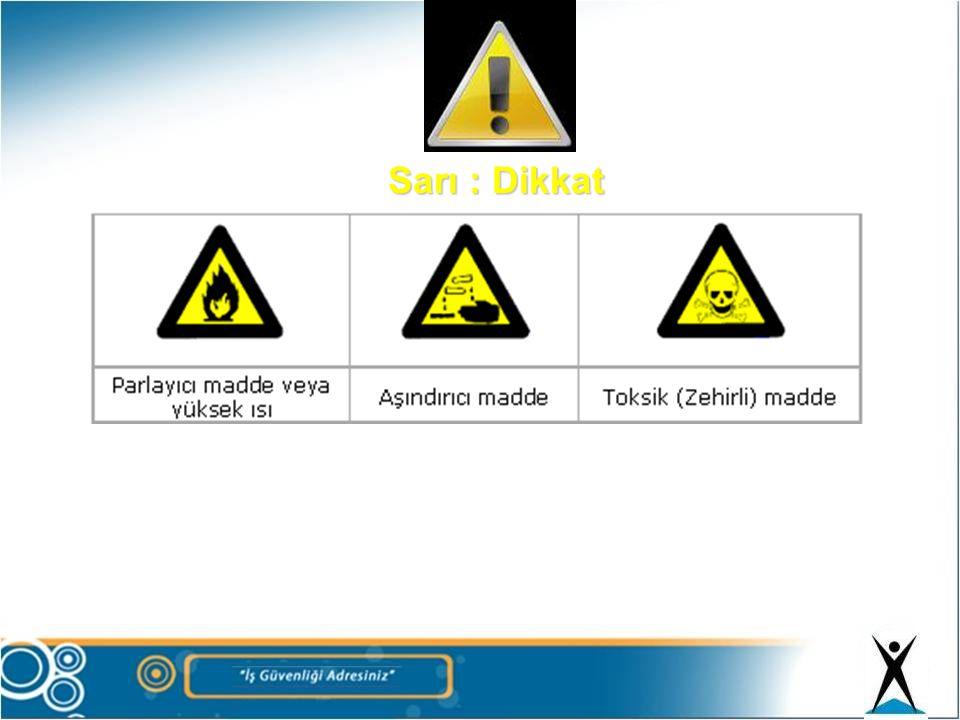 Sarı : Dikkat