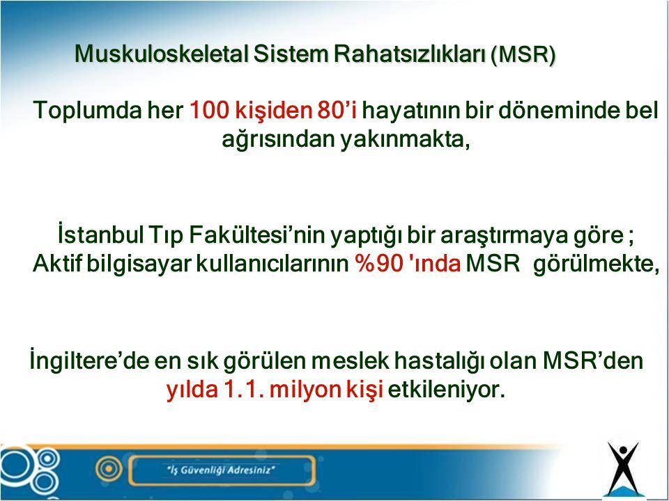 Toplumda her 100 kişiden 80'i hayatının bir döneminde bel ağrısından yakınmakta, İstanbul Tıp Fakültesi'nin yaptığı bir araştırmaya göre ; Aktif bilgi