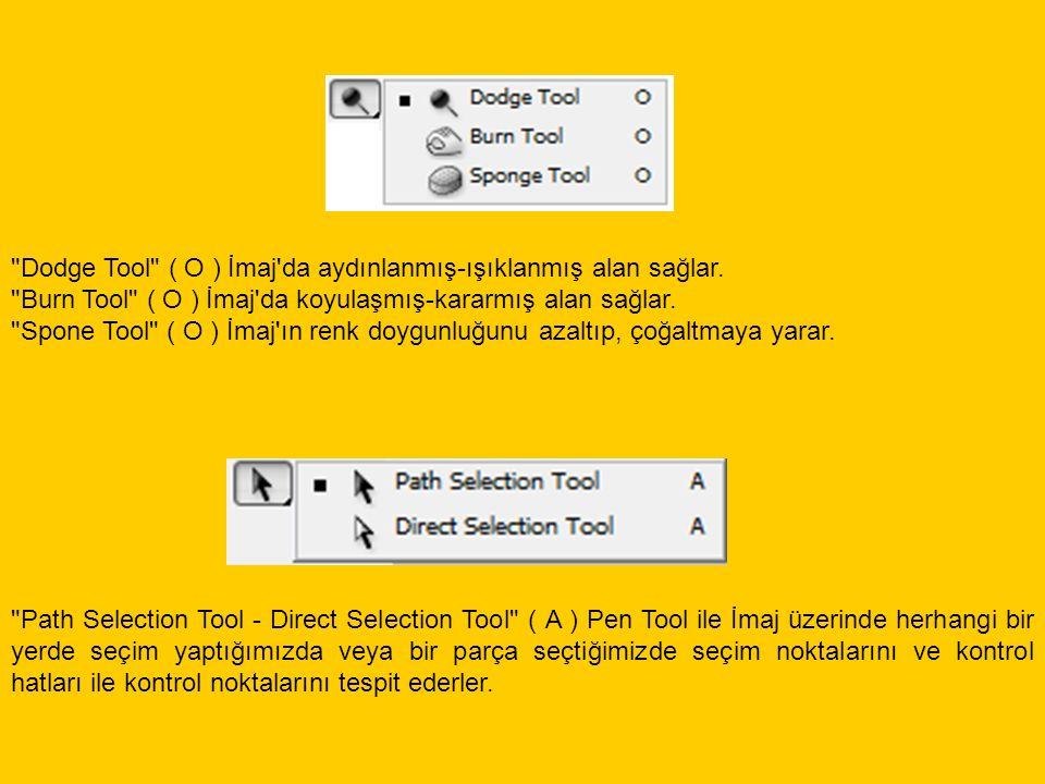 Horizontal Type Tool , yazı yazma aracıdır.