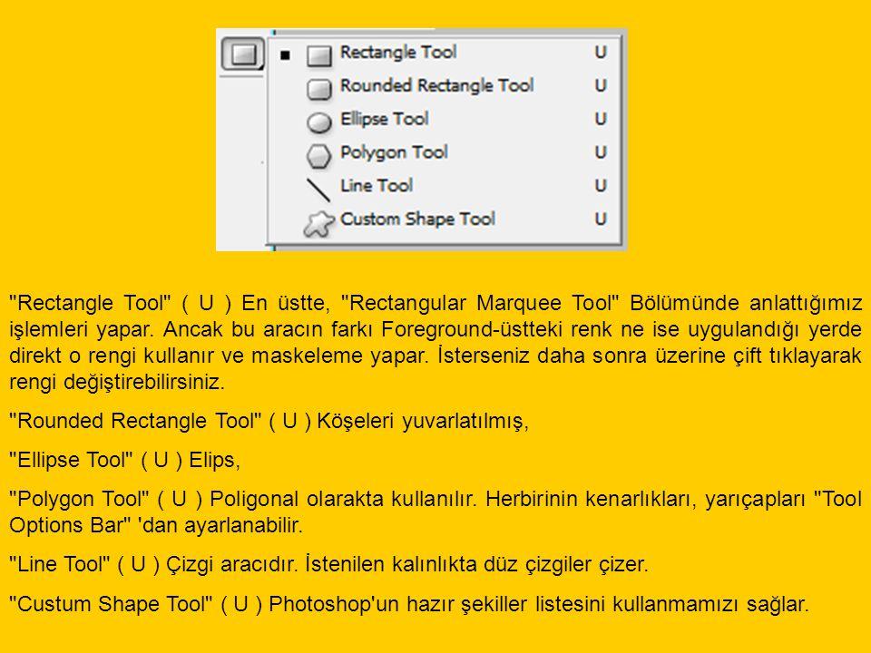 Eyedropper Tool ( I ) İmaj için örnek renk seçmemizi sağlar.