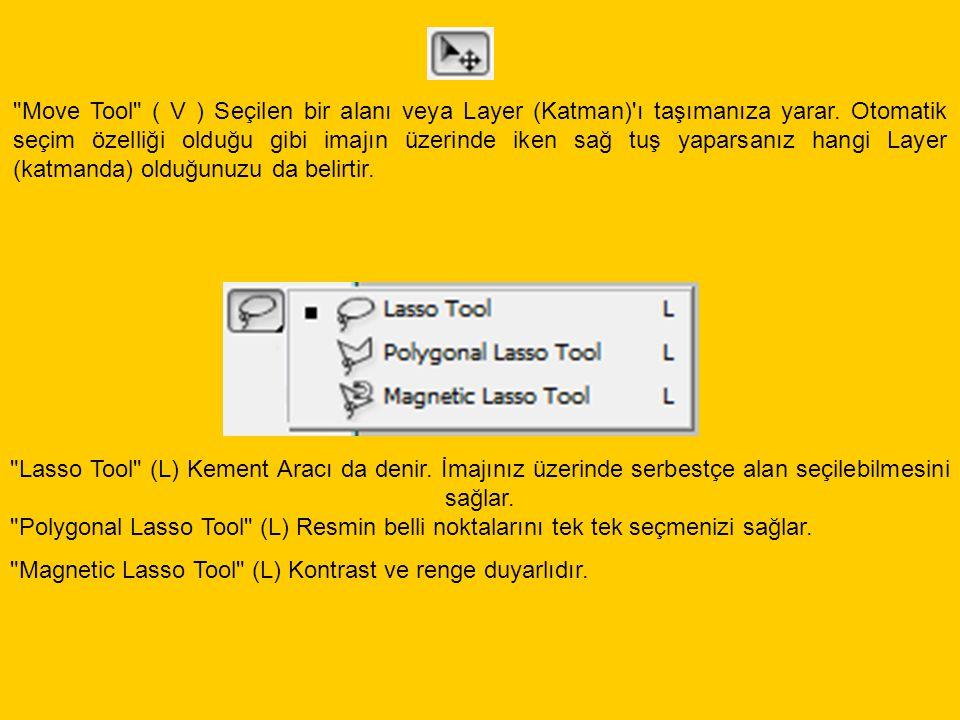 Magic Wand Tool İmaj üzerindeki benzer renkleri seçim aracıdır.