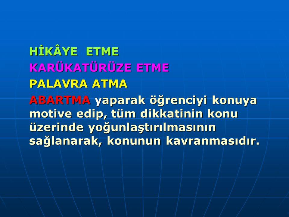 METAFOR TEKNİĞİ