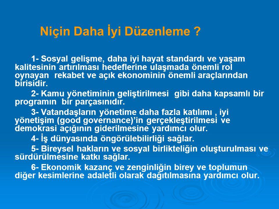 Türkiye'de Gerçekleştirilen Basitleştirme Çalışmaları Daha İyi Düzenleme ortamının oluşturulması kapsamında Başbakanlık ve Adalet Banklığınca görevlendirilen hakimlerden oluşan çalışma gruplarınca,Haziran 2004'le Haziran 2005 tarihleri arasında yaptıkları çalışmalar sonucunda;