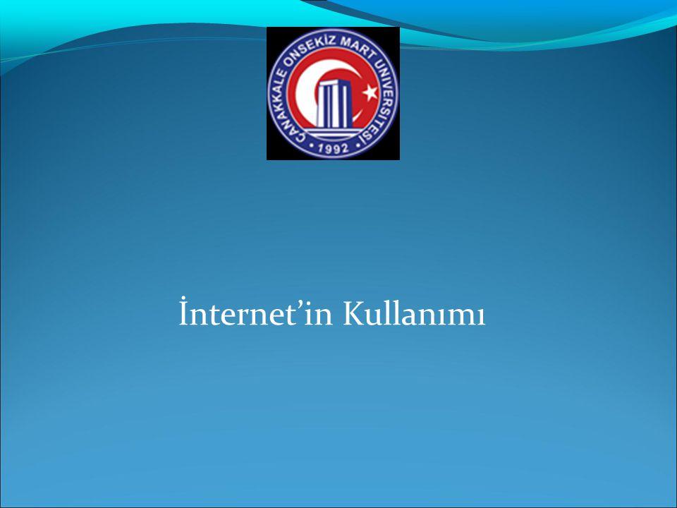 Internet ve Web'e giriş  Internet için temel gereklilikler  Windows, MAC OS, yada UNIX gibi İşletim sistemi olan ve internet protokollerini destekleyen bir bilgisayarın olması  Modem, ISDN adaptör, yada Ethernet kartı gibi İletişim gereçlerinin varlığı  İnternet Servis Sağlayıcıları (ISS) olması  İnternet Explorer yada Netscape Navigator gibi internet listeleyicilerinin yani sunucu yazılım programlarının olması