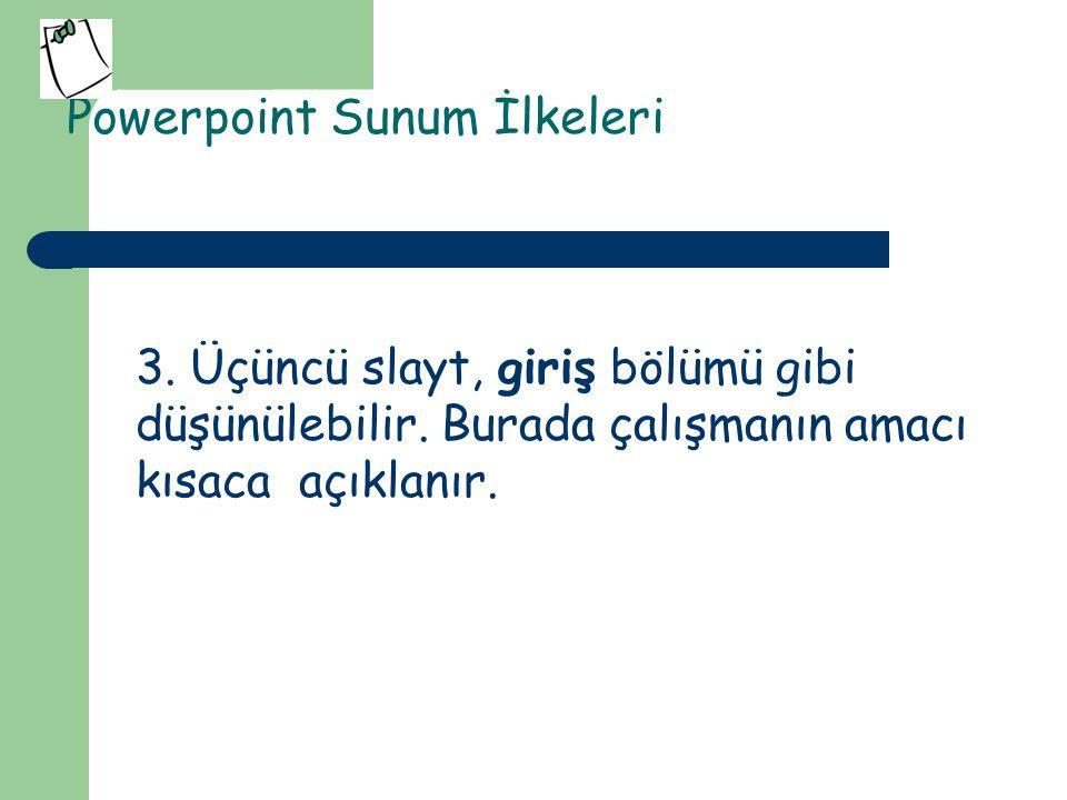 Powerpoint Sunum İlkeleri 4.