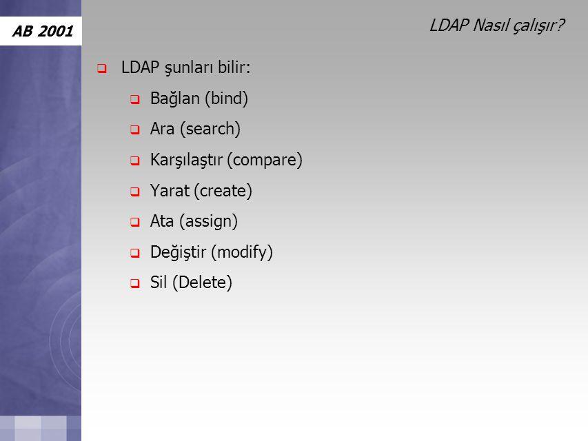 AB 2001 LDAP Nasıl çalışır.