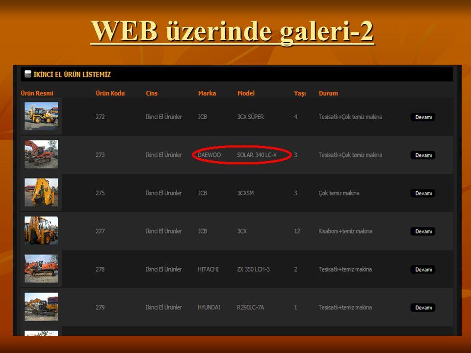WEB üzerinde galeri-2