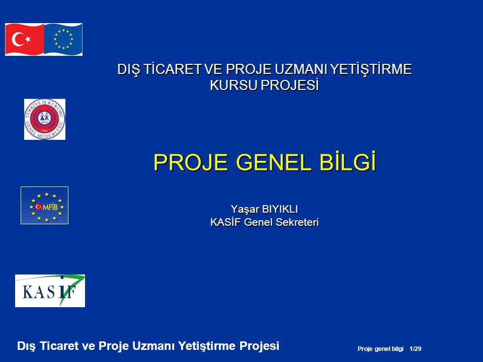 Proje genel bilgi 22/29 Dış Ticaret ve Proje Uzmanı Yetiştirme Projesi BÜTÇE AÇISINDAN (2) •Bütçe etkin kullanılmamış (Gereksiz yere katılımcılar için seyahat öngörülmüş).