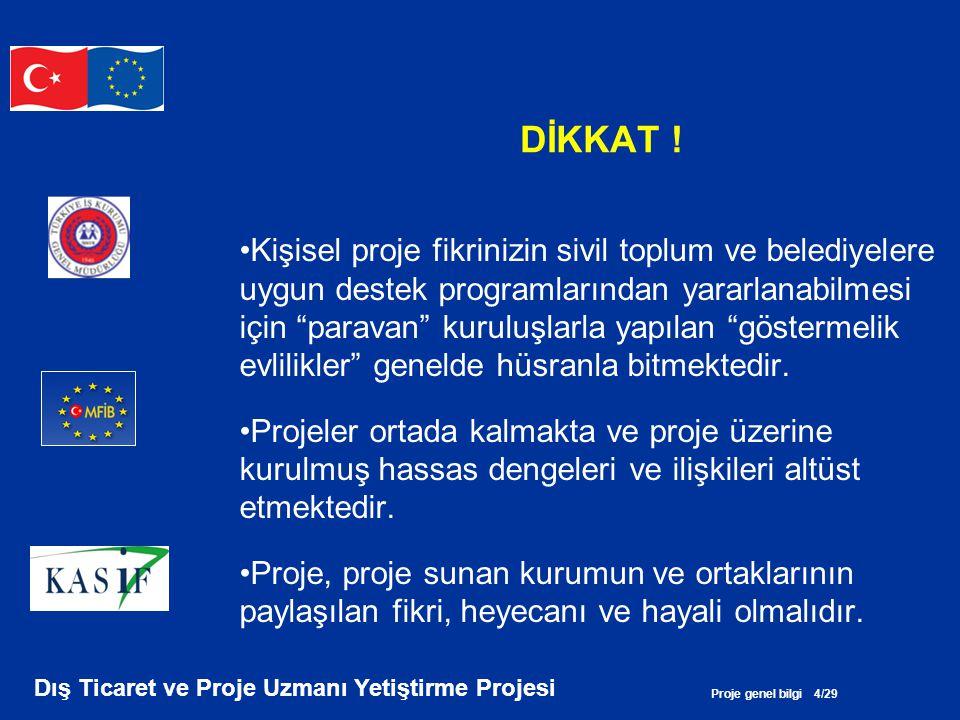 Proje genel bilgi 15/29 Dış Ticaret ve Proje Uzmanı Yetiştirme Projesi BÜTÇE HAZIRLARKEN EN ÇOK NEYE DİKKAT EDİLMELİ.