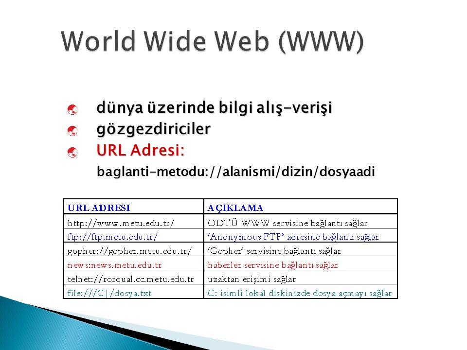  dünya üzerinde bilgi alış-verişi  gözgezdiriciler  URL Adresi: baglanti-metodu://alanismi/dizin/dosyaadi 15