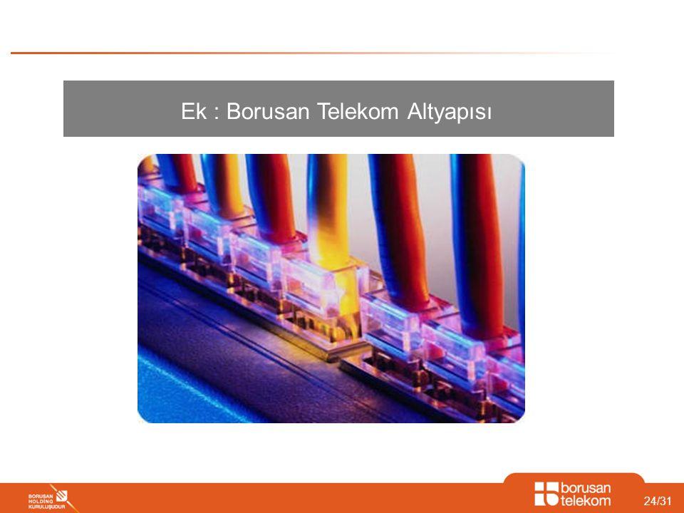 24/31 Ek : Borusan Telekom Altyapısı