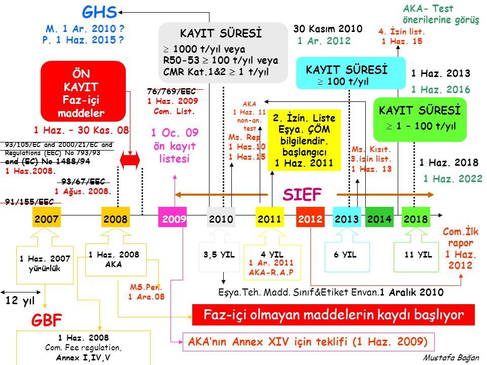 Kimyasalların Hayat Döngüsü Üretici/İthalatçı M Üretim Kendi kullanımı M Katma değer Profesyonel/ endüstriyel M P1P1 M P2P2 M E1E1 E2E2 M M M Pazar M P E Madde Müstahzar Eşya P1P1 M P2P2 M E1E1 M E2E2 M Tüketici M P1P1 M P2P2 M E1E1 E2E2 M M P E Bertaraf M M M M M M P A M Frans M.