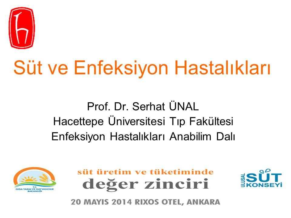 Prof. Dr. Serhat ÜNAL Hacettepe Üniversitesi Tıp Fakültesi Enfeksiyon Hastalıkları Anabilim Dalı Süt ve Enfeksiyon Hastalıkları Uluslararası Veteriner