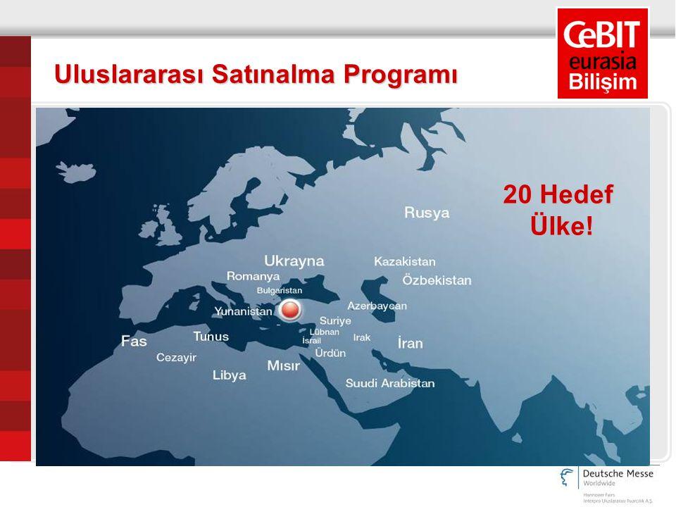 Uluslararası Satınalma Programı 20 Hedef Ülke!